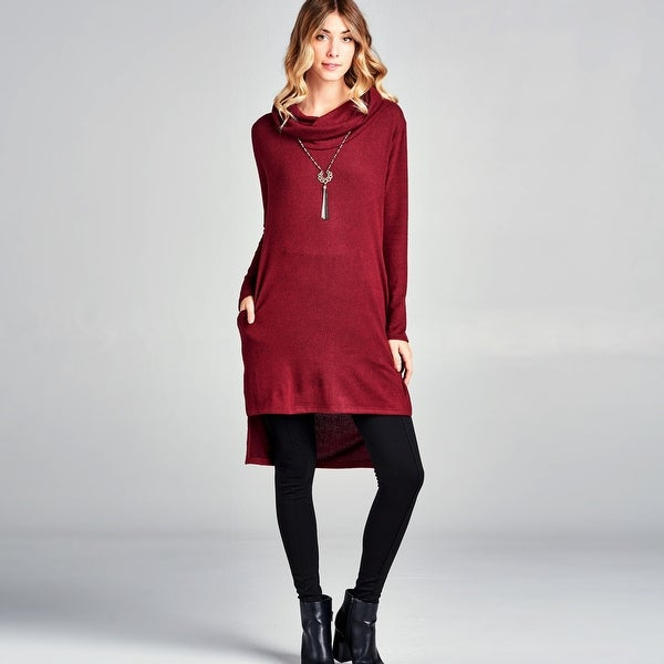 c90ca6a6d88 Shop Cowl Neck Tunic Dress with Pockets - Free Shipping Today ...
