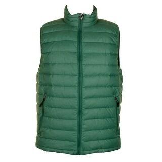 Degrees Green Full Zip Packable Down Puffer Vest M