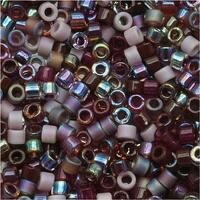 Miyuki Delica Seed Bead Mix Lot 11/0 Vinyard Purples 7.2 Grams