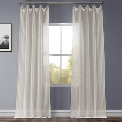 Exclusive Fabrics Gardenia Faux Linen Sheer Curtain (1 Panel)