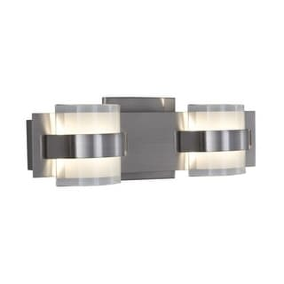 Alternating Current AC1312 Restraint 2 Light LED Wall Sconce ADA Compliant
