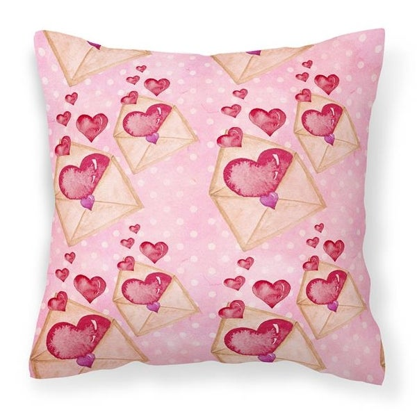 743d6676118 Shop Watercolor Pink Love Letter Fabric Decorative Pillow