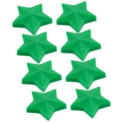 Household Fridge Blackboard Guestbook Plastic Star Design Magnet Green 8 Pcs