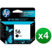 HP 56 Black Original Ink Cartridge (C6656AN) (4-Pack)