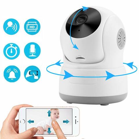 AGPtek Wireless 720P IP Baby Monitor w/ Motion Detection Pan/Tilt & 2 Way Audio & Night Vision - S