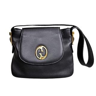 "Gucci Limited Edition '1973' Leather Shoulder Bag - 10.5"" l x 8"" h x 3"" w"