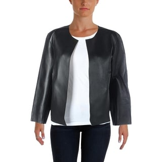 Lauren Ralph Lauren Womens Leather Coat Leather Crop