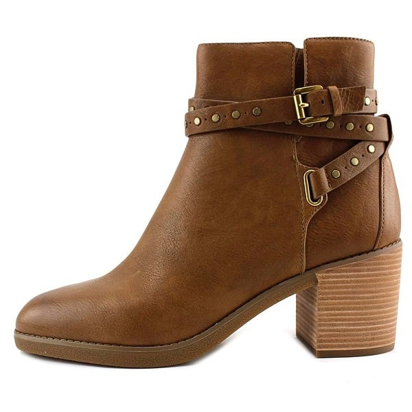 MICHAEL Michael Kors Womens Fawn Leather Closed Toe Ankle Fashion Boots