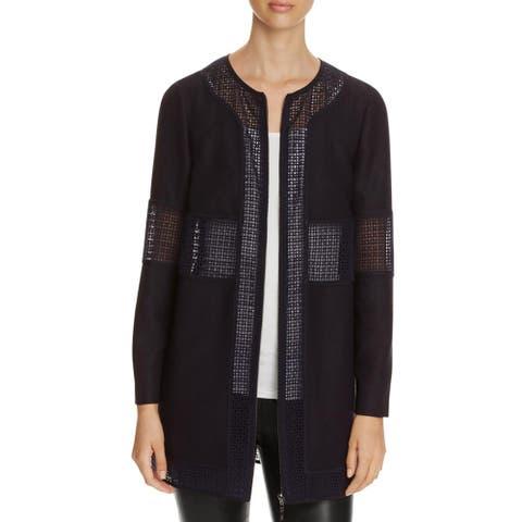 Finity Womens Basic Jacket Eyelet Long