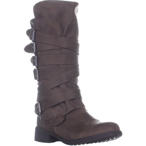 Report Huck Mid-Calf Flat Boots, Taupe