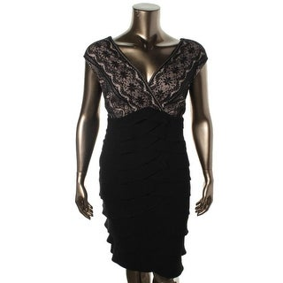 Jessica Howard Womens Plus Lace Tiered Cocktail Dress - 24W