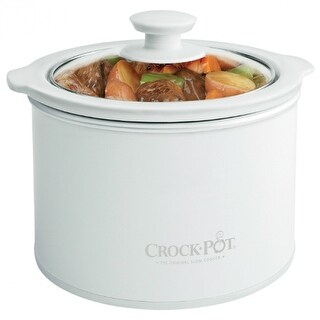 Crock-Pot SCR151-WG-NP Slow Cooker with Glass Lid, 1.5 Qt, White