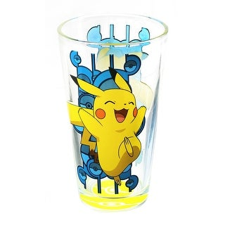 Pokemon Pikachu Pokeball Bottom 16oz Pint Glass - Multi
