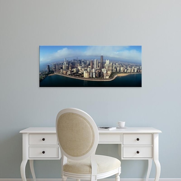 Easy Art Prints Panoramic Images's 'High angle view of buildings at the waterfront, Chicago, Illinois, USA' Canvas Art