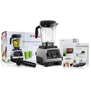Vitamix 750 Heritage G-Series Blender with 64-Ounce Container + Blending Recipe Cookbook + Getting Started DVD + Tamper