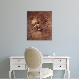 Easy Art Prints Leonardo da Vinci's 'La Scapigliata' Premium Canvas Art