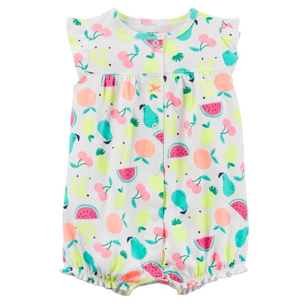 f2390f586a42 Shop Carter s Baby Girls  Fruity Snap Up Romper 18 Months - Fruit Print -  Free Shipping On Orders Over  45 - Overstock.com - 25586630