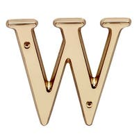 Letter W House Letters Solid Bright Brass 4 | Renovator's Supply