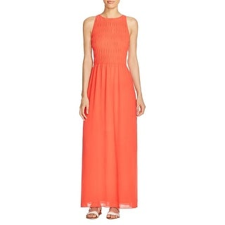 MICHAEL Michael Kors Womens Maxi Dress Smocked Halter