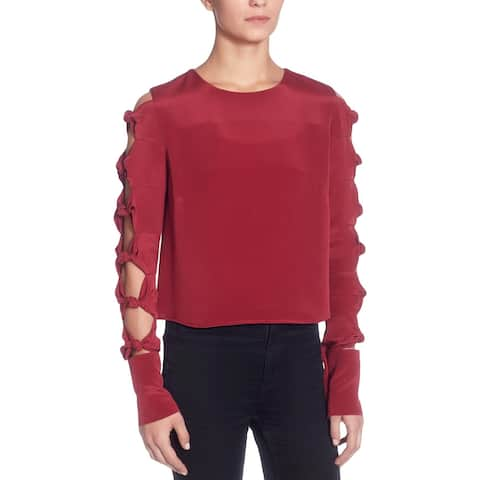 CATHERINE CATHERINE MALANDRINO Womens Blouse Silk Cut-Out