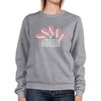 Won The Battle Queen Unisex Grey Pullover Sweatshirt Crewneck Top