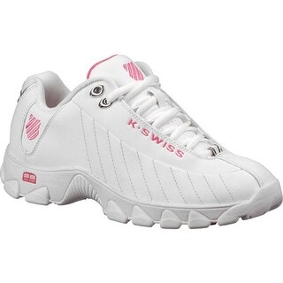 K-Swiss Women's ST329 CMF White/Shocking Pink
