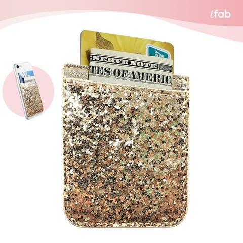 iFab Stick-On ID, Credit Card Wallet Phone Case for Cell Phones