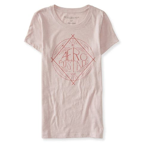 Aeropostale Womens Logo Circle Graphic T-Shirt, Pink, X-Small