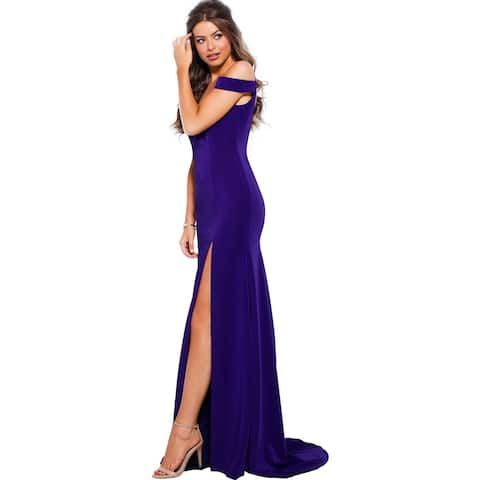 JVN by Jovani Womens 57297A Evening Dress Prom Off-The-Shoulder