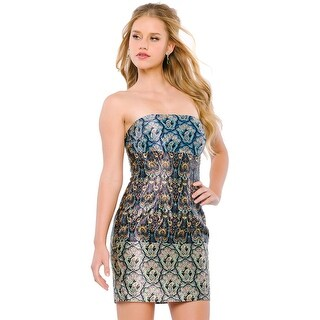 Jovani Embellished Strapless Semi-Formal Dress