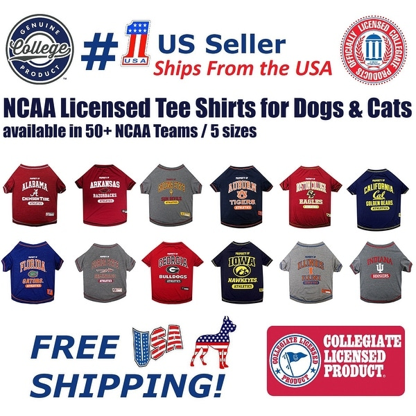 Shop Pets First NCAA Tee Shirt for Dogs and Cats - Licensed. - On ... 3ddd5abaf