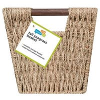 Honey Can Do STO-02965 Sea Grass Basket Tote with Handles, Brown
