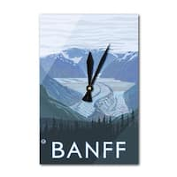 Banff, Canada - Glacier - LP Artwork (Acrylic Wall Clock) - acrylic wall clock