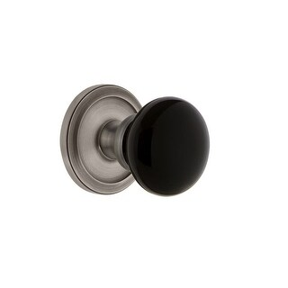 """Grandeur CIRCOV_PSG_234  Circulaire Solid Brass Rose Passage Door Knob Set with Coventry Knob and 2-3/4"""" Backset"""