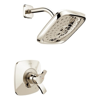 Delta T17T252  Tesla Thermostatic Shower Trim with H2Okinetic Shower Head, Volume Control, and TempAssure Technology