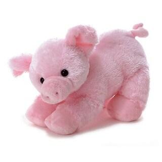 """Aurora Plush 12"""" Piggolo Flopsie Stuffed Pig - 06648 - Pink"""