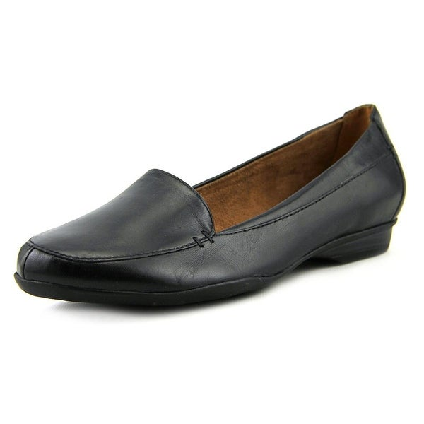 Naturalizer Saban Women W Round Toe Leather Black Loafer