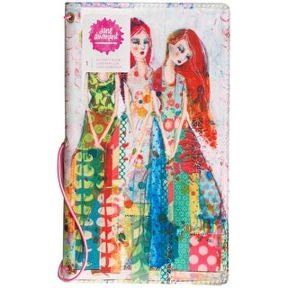 "Jane Davenport Butterfly Effect Canvas Cover Book 5""X9""-Sisters W/2 Elastics & 4 Paper Inserts"