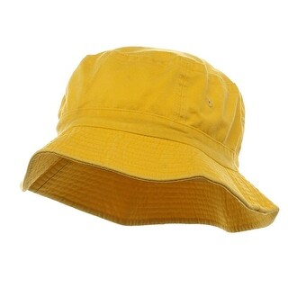Pigment Dyed Bucket Hat-Yellow - Yellow