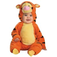 Disguise Disney Winnie The Pooh Tigger Deluxe Two-Sided Plush Jumpsuit Infant/Toddler Costume - Orange