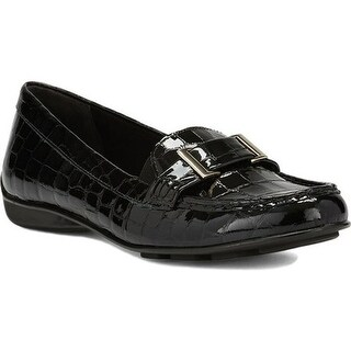 Walking Cradles Women's March Loafer Black Patent Croco Printed Leather