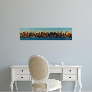 Easy Art Prints Panoramic Images's 'Skyscrapers at the waterfront, New York City, New York State, USA' Canvas Art
