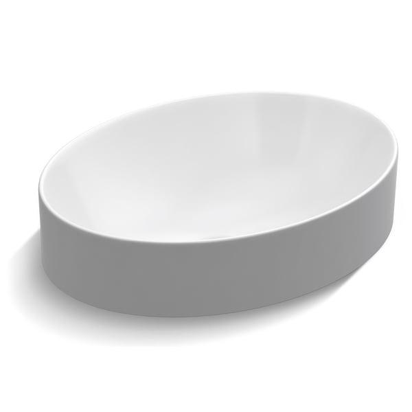 "Kohler K-99183 Vox 20"" Vessel Vitreous China Bathroom Sink with Overflow - White"