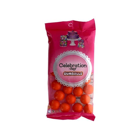 74557 sweetworks celebration gumballs 8oz orange