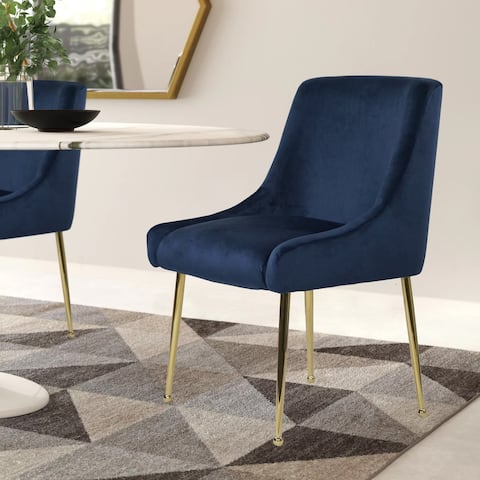 Winfield Modern Lush Velvet Dining Chair with Gold Handle and Legs