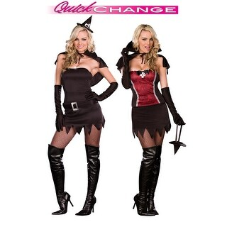 Dreamgirl From Witching Hour to Vampire Power Quick Change Adult Costume - Black/Red