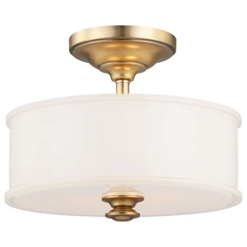 Minka Lavery 4172 2 Light Semi-Flush Ceiling Fixture in Liberty Gold from the Harbour Point Collection