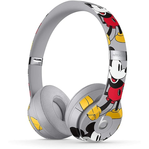 Beats Solo3 Wireless On-Ear Headphones -Apple W1 Headphone Chip,- Mickey's 90th Anniversary Edition - Grey - Grey