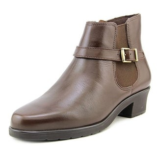 Walking Cradles Clive Women Round Toe Leather Brown Ankle Boot