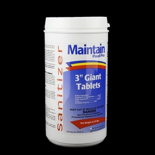 "Maintain Pool Pro Sanitizer Concentrated Stabilized Chlorinating 3"" Giant Tablets 4.375lbs"